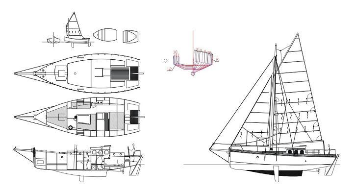 plan du voilier en cp epoxy