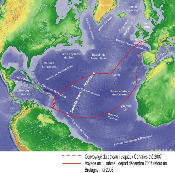 traversée de l`atlantique
